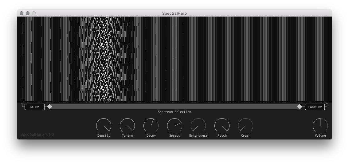 Image showing the Spectral Harp app.